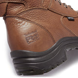 "Timberland PRO Men's TiTAN 8"" Alloy Toe WP Work Boot Brown TB047019210  - Overlook Boots"