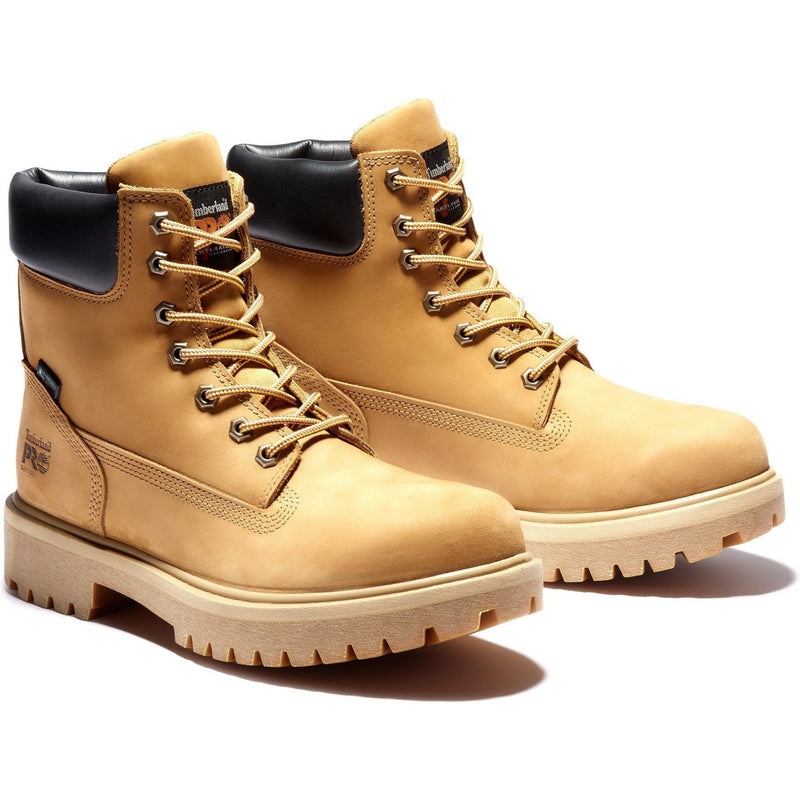 "Timberland PRO Men's Direct Attach 6"" WP Ins Work Boot TB065030713 7 / Medium / Wheat Nubuck - Overlook Boots"