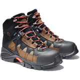 "Timberland PRO Men's Hyperion 6"" Alloy Toe WP Work Boot - TB090646214 7 / Medium / Brown/Black Distressed - Overlook Boots"