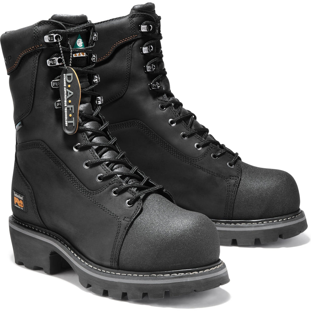 "Timberland PRO Men's Rip Saw 9"" Comp Toe WP Logger Work Boot - TB091614001  - Overlook Boots"