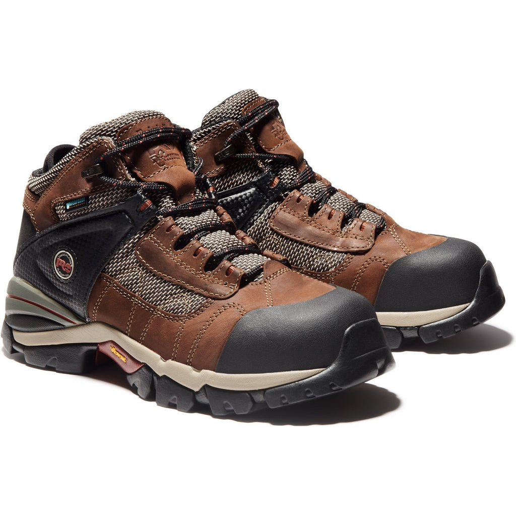 Timberland PRO Men's Hyperion Mid Alloy Toe WP Work Boots- TB091696214  - Overlook Boots