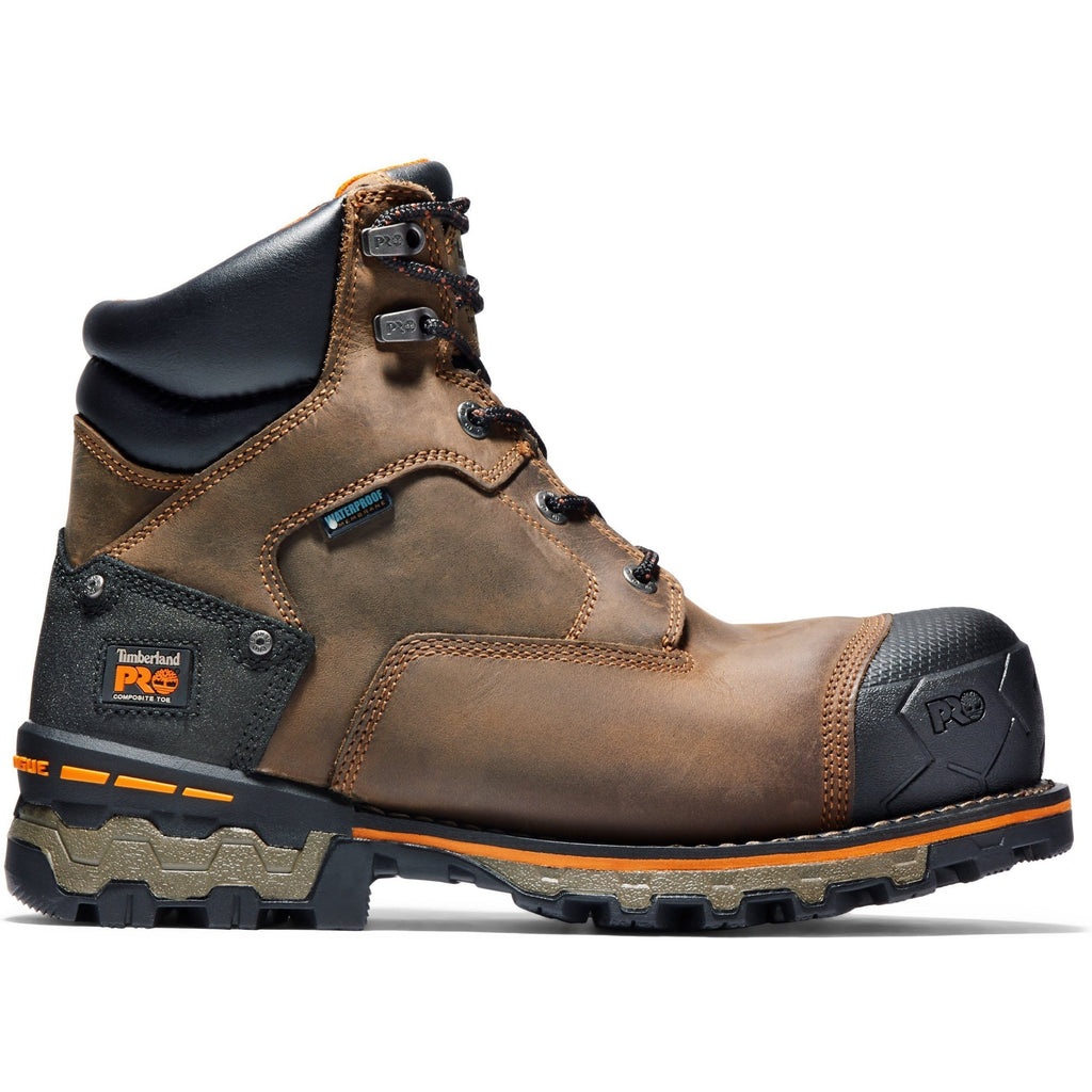 "Timberland PRO Men's Boondock 6"" Comp Toe WP Work Boots - TB092615214 7 / Medium / Brown Oiled Distressed - Overlook Boots"