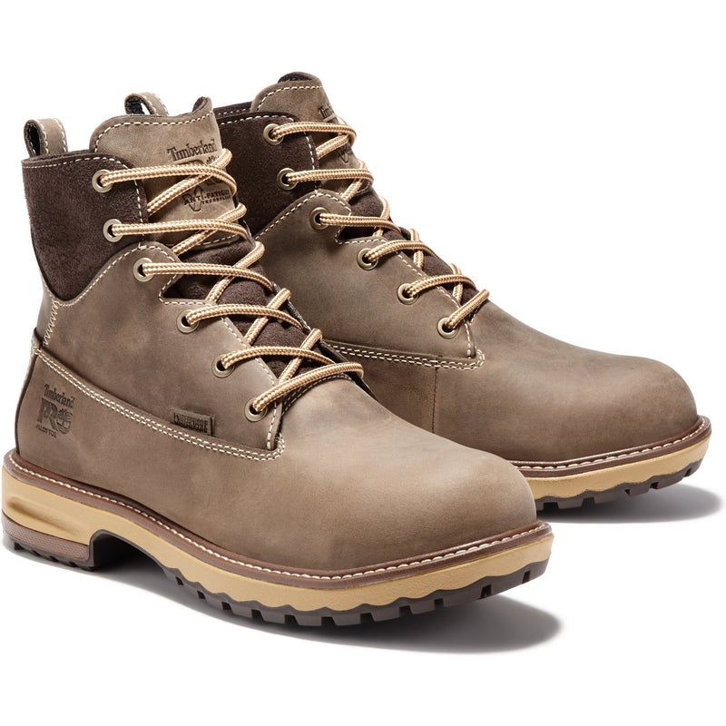 "Timberland PRO Women's Hightower 6"" Alloy Toe WP Work Boot TB0A1KIT214 5.5 / Medium / Brown - Overlook Boots"