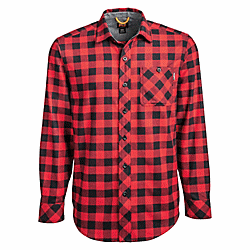 Timberland Pro Men's Mid Weight Flannel Work Shirt TB0A1V49D27 Small / Red - Overlook Boots