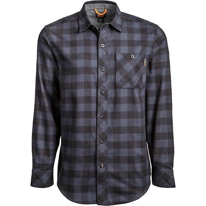 Timberland Pro Men's Mid Weight Flannel Work Shirt Navy TB0A1V49T58 Small / Navy - Overlook Boots