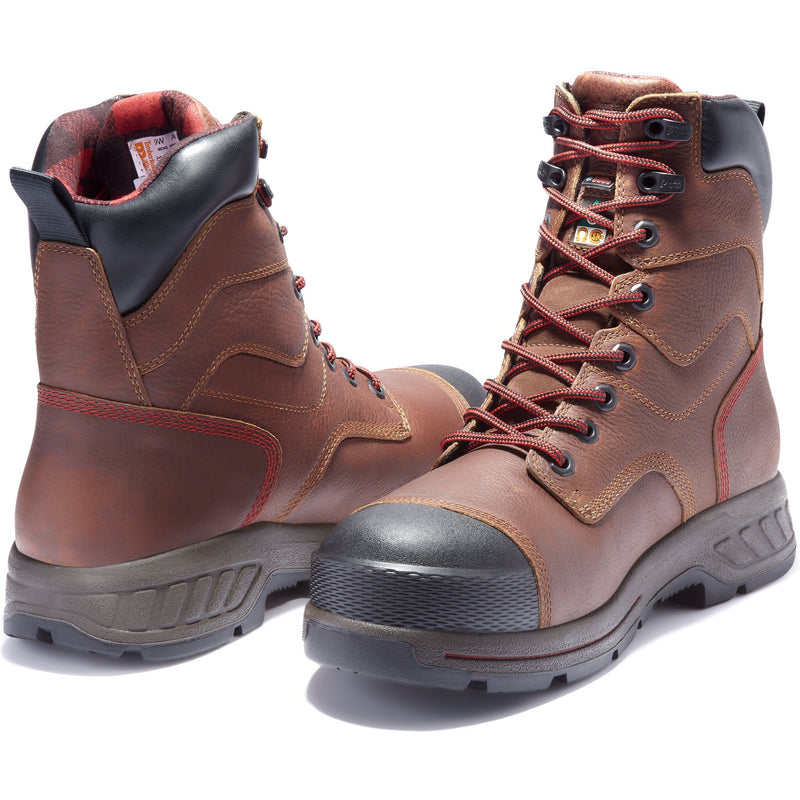 "Timberland PRO Men's Endurance HD 8"" Comp Toe WP Ins Work Boot TB0A1WWE214  - Overlook Boots"