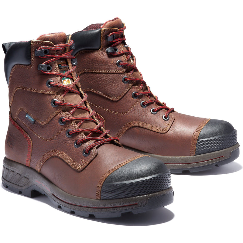 "Timberland PRO Men's Endurance HD 8"" Comp Toe WP Ins Work Boot TB0A1WWE214 7 / Medium / Brown - Overlook Boots"