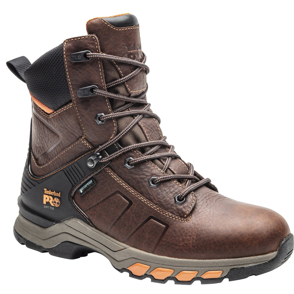 "Timberland PRO Men's Hypercharge 8"" Toe WP Work Boot Brown TB0A1Z43214  - Overlook Boots"