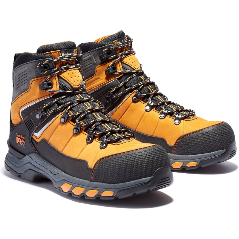 Timberland Pro Men's Hypercharge TRD Comp Toe WP Work Boot TB0A22FH827 7 / Medium / Orange - Overlook Boots