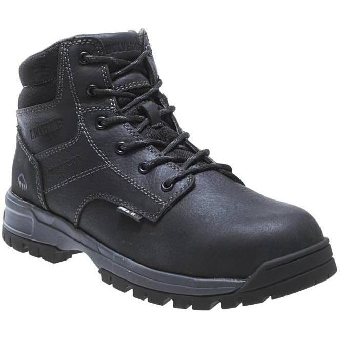 "Wolverine Men's 6"" Joliet Comp Toe Waterproof Work Boot - Black - W10177 7 / Medium / Black - Overlook Boots"