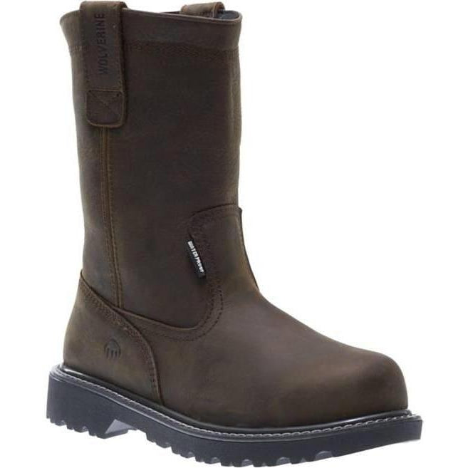 "Wolverine Men's 10"" Floorhand WP Wellington Work Boot - Brown - W10682 7 / Medium / Brown - Overlook Boots"