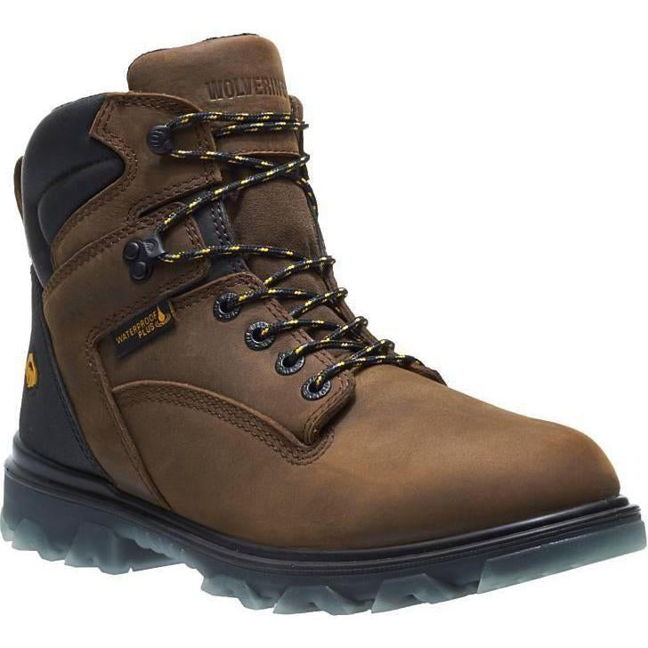 "Wolverrine Men's 6""  1-90  EPX Insulated WP Work Boot - Brown - W10870 7 / Medium / Brown - Overlook Boots"