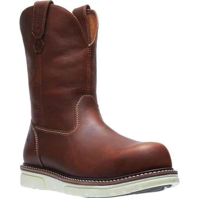"Wolverrine Men's 8""  1-90  Durashocks Wedge Wellington Work Boot  W10894  - Overlook Boots"