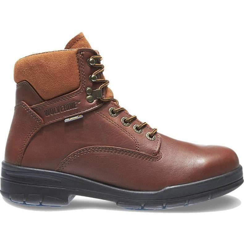 "Wolverine Men's DuraShocks SR 6"" Stl Toe WP Direct Attach Work Boot W03120 7 / Medium / Brown - Overlook Boots"