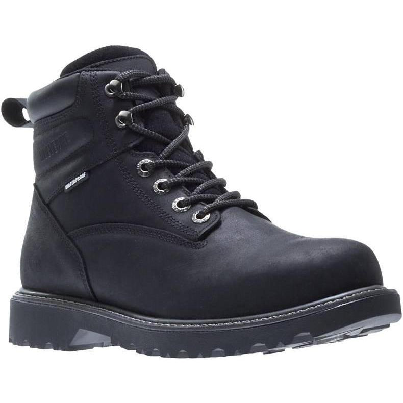 Wolverine Women's Floorhand Steel Toe WP Work Boot - Black - W201153 5 / Medium / Black - Overlook Boots