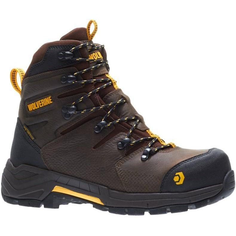 Wolverine Men's Contractor LX Carbonmax ST WP Work Boot Brown - W10781  - Overlook Boots