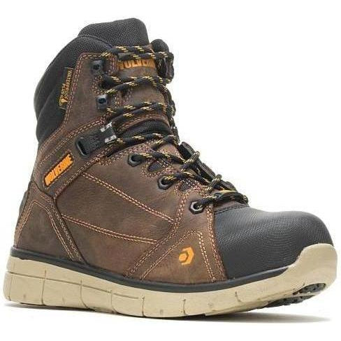 "Wolverine Men's Rigger EPX  6"" Safety Toe WP Work Boot Brown - W10797 7 / Medium / Brown - Overlook Boots"