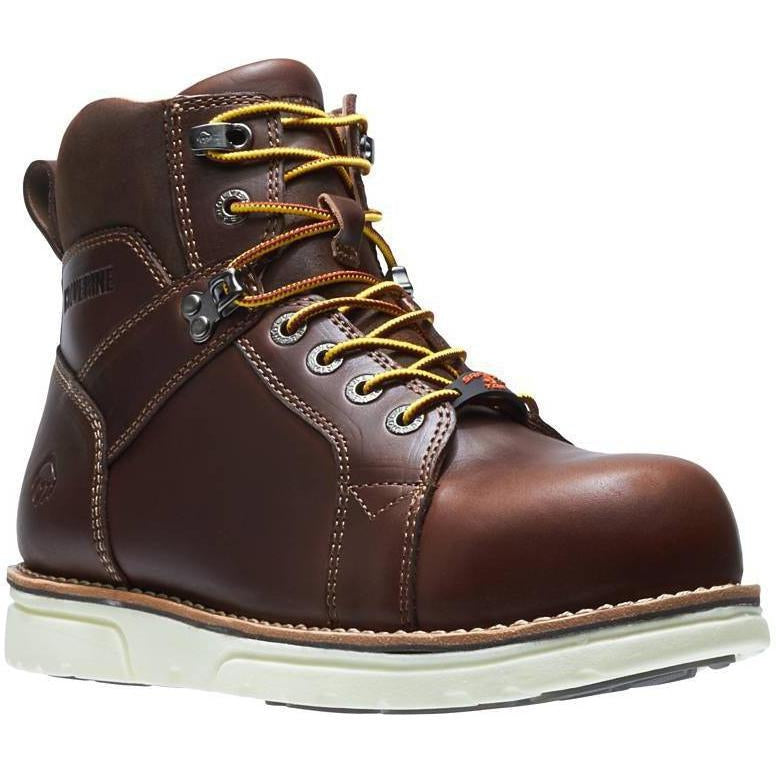 "Wolverine Men's 6""  1-90  Durashocks Elite Wedge Work Boot - W10892 7 / Medium / Brown - Overlook Boots"