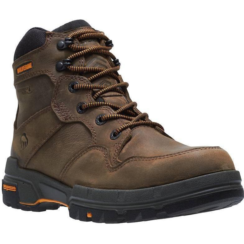 "Wolverine Men's 6"" Legend Moc Toe Carbonmax WP Work Boot - W10906 7 / Medium / Brown - Overlook Boots"