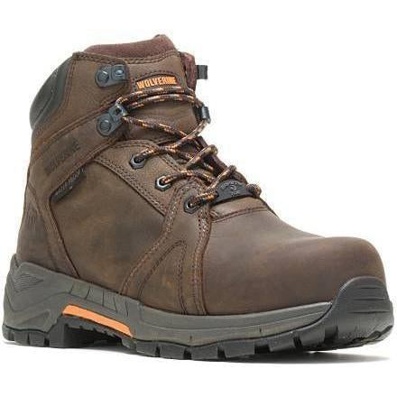 "Wolverine Men's 6"" Contractor LX EPX Carbonmax WP Work Boot Brown W10909  - Overlook Boots"