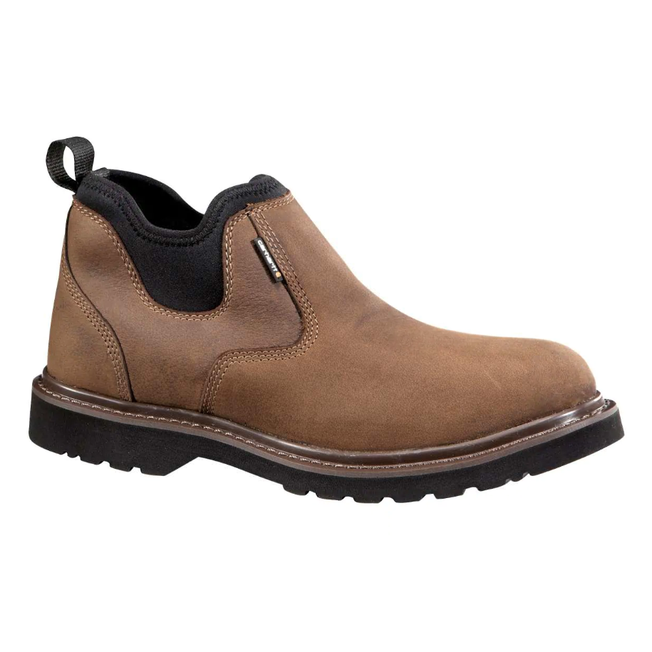 "Carhartt Men's 4"" Oxford Romeo WP Slip On Work Shoe - Brown - CMS4190 8 / Medium / Brown - Overlook Boots"