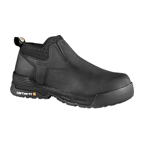 "Carhartt Men's Force 4"" Comp Toe WP Slip On Work Shoe Black - CMA4311  - Overlook Boots"