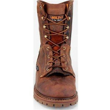 "Carolina Men's 28 Series 8"" WP Comp Toe Work Boot - Brown - CA8528 7 / Medium / Brown - Overlook Boots"