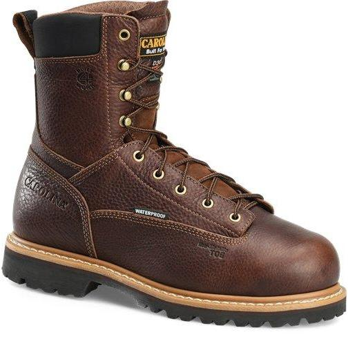 "Carolina Men's 8"" Grind WP MetGuard Comp Toe Work Boot Brown - CA9585 8 / Medium / Brown - Overlook Boots"