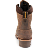 "Carolina Men's Birch 8"" Comp Toe WP INS Logger Work Boot Brown CA7521  - Overlook Boots"