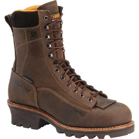 "Carolina Men's Birch 8"" Waterproof Logger Work Boot - Brown - CA7022 8 / Medium / Brown - Overlook Boots"