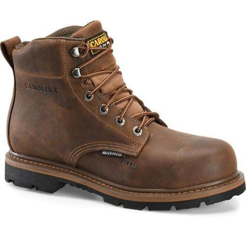 "Carolina Men's Dormer 6"" Waterproof Work Boot - Brown - CA9036  - Overlook Boots"