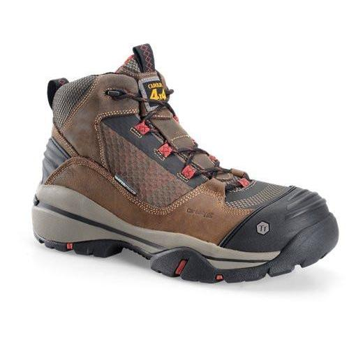 "Carolina Men's EXT 5"" Comp Toe Waterproof Hiker Work Shoe - CA4551 8 / Medium / Brown - Overlook Boots"