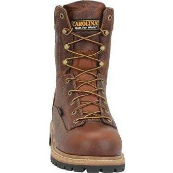 "Carolina Men's Grind 8"" WP Comp Toe Work Boot - Brown - CA5529 8 / Medium / Brown - Overlook Boots"