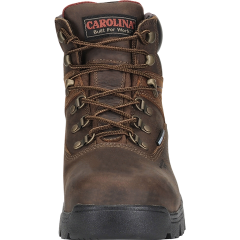 "Carolina Men's Hook 6"" Comp Toe WP Hiker Work Boot - Brown - CA5537 8 / Medium / Brown - Overlook Boots"