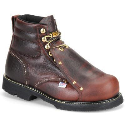 "Carolina Men's Int Lo USA Made 6"" Metguard Work Boot - Briar - 508 7 / Medium / Brown - Overlook Boots"