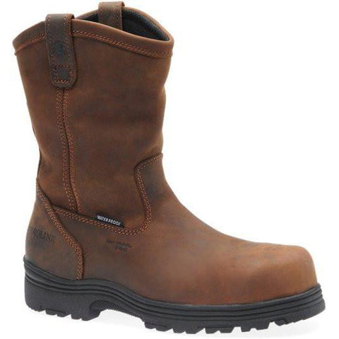 Carolina Men's Laser Comp Toe WP Wellington Work Boot - Brown - CA2533 8 / Medium / Brown - Overlook Boots