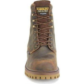 "Carolina Men's Marlboro Hi 8"" WP Insulated Stl Toe Work Boot - CA8588 8 / Medium / Brown - Overlook Boots"