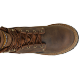 "Carolina Men's Poplar 8"" Logger Comp Toe Work Boot - Brown - CA9853  - Overlook Boots"