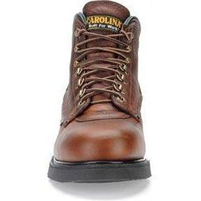 "Carolina Men's Sarge Lo USA Made 6"" Steel Toe Work Boot - Amber - 1309  - Overlook Boots"