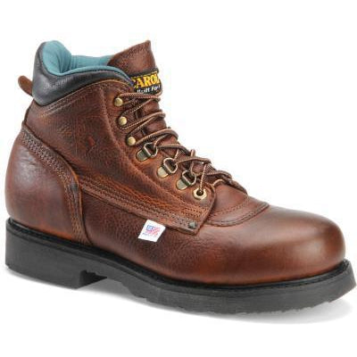 "Carolina Men's Sarge Lo USA Made 6"" Steel Toe Work Boot - Amber - 1309 7 / Medium / Light Brown - Overlook Boots"