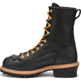 "Carolina Men's Spruce 8"" WP Lace-to-Toe Logger Work Boot Black CA8825  - Overlook Boots"
