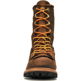 "Carolina Men's Spruce 8"" WP Lace-to-Toe Logger Work Boot, Brown CA8824  - Overlook Boots"
