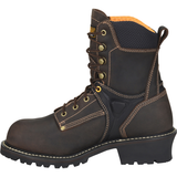 "Carolina Men's Timber 8"" Comp Toe WP Logger Work Boot - Brown - CA6921  - Overlook Boots"
