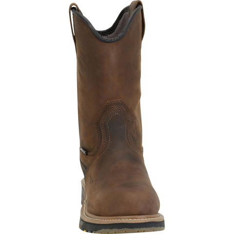 "Carolina Men's Well X 10"" Comp Toe WP Wellington Work Boot - CA4559 8 / Medium / Brown - Overlook Boots"