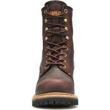 "Carolina Women's Elm 8"" Steel Toe Logger Work Boot - Brown - CA1421 4 / Medium / Dark Brown - Overlook Boots"
