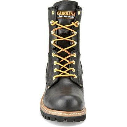 "Carolina Women's Elm 8"" WP Steel Toe Logger Work Boot - Black - CA1420 6 / Medium / Black - Overlook Boots"