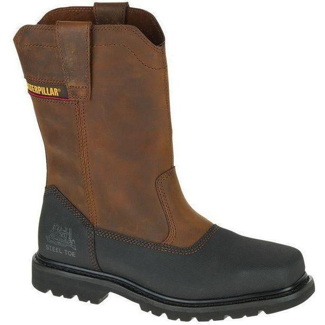 CAT Men's Canyon Pull On Stl Toe Waterproof Work Boot - Brown - P90749 7 / Medium / Brown - Overlook Boots