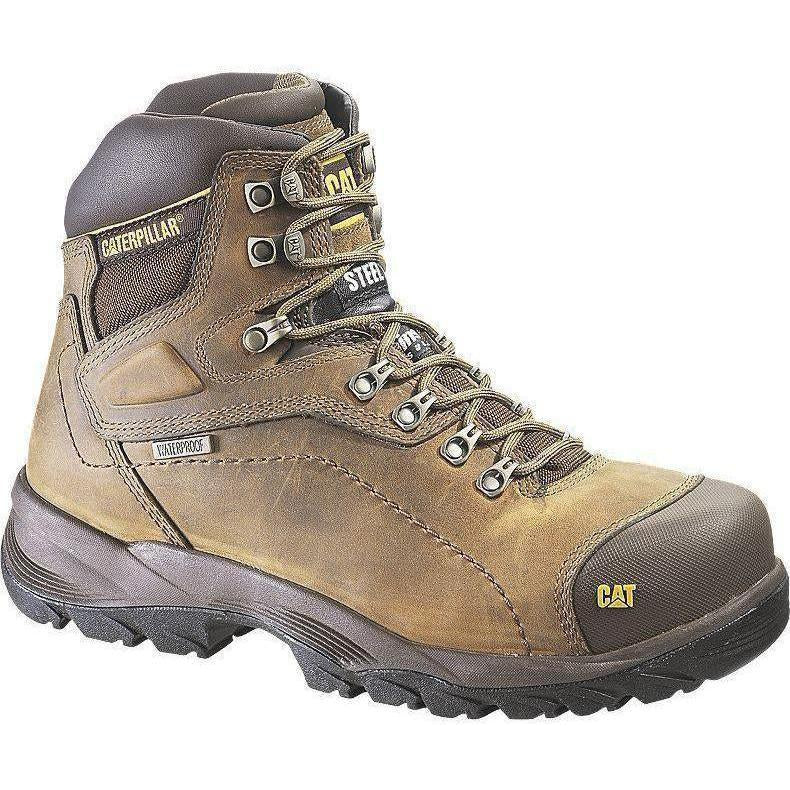 CAT Men's Diagnostic Hi WP Insulated Stl Toe Work Boot - Brown- P89940 7 / Medium / Brown - Overlook Boots