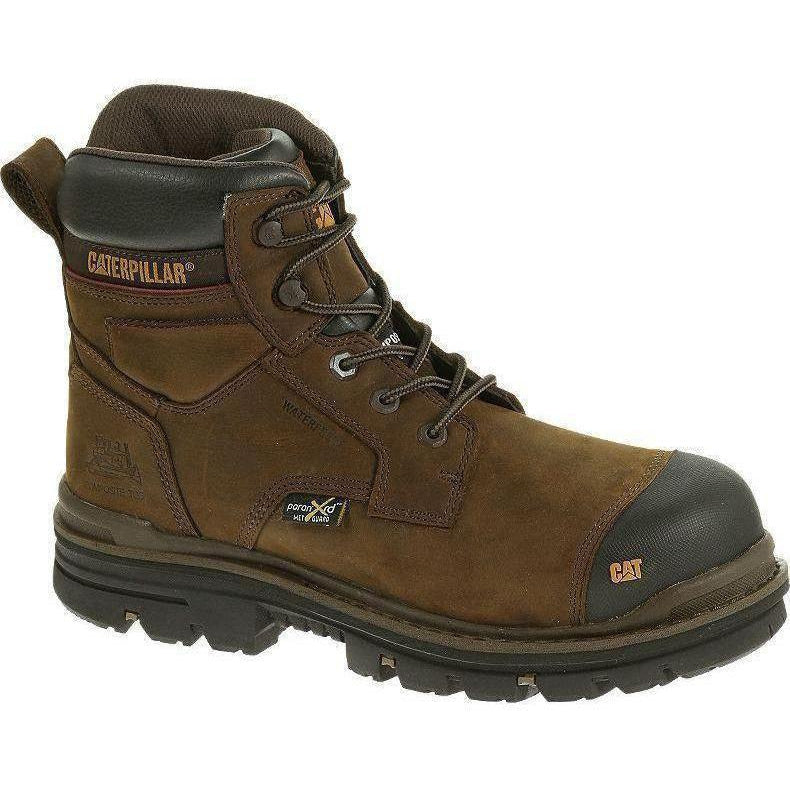 "CAT Men's Rasp 6"" Comp Toe Met Guard WP Work Boot - Brown - P90542 7 / Medium / Brown - Overlook Boots"