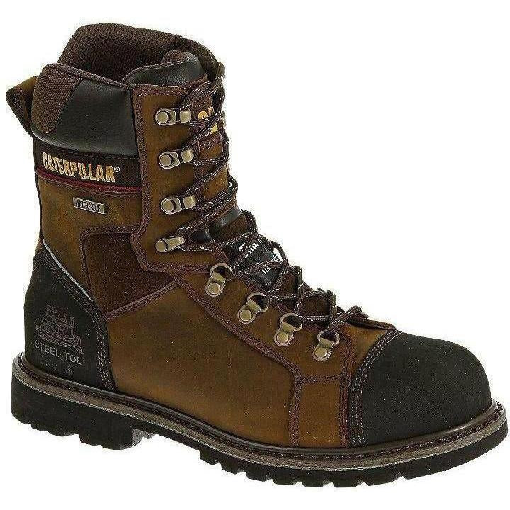 "CAT Men's Tracklayer 8"" Stl Toe WP Insulated Work Boot - Brown- P90372 7 / Medium / Brown - Overlook Boots"